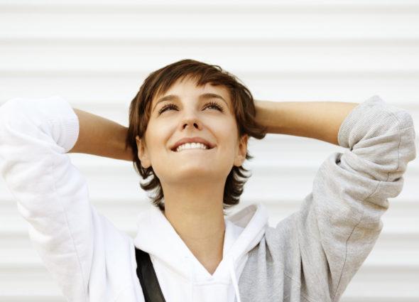 donna pensa positivo